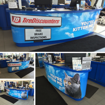 Tire Discounters - Counter Wraps