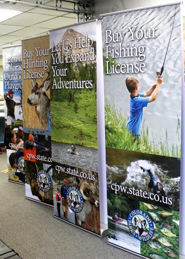 retractors denver, CO colorado wildlife retractable banners