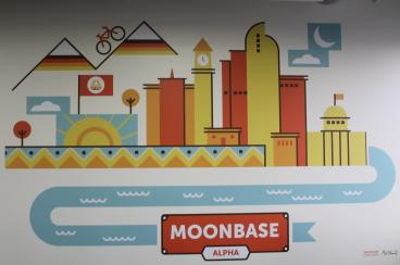 wall mural moonbase denver, CO
