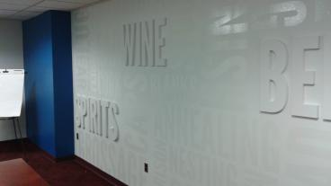 Cut Optically Clear Vinyl of Painted Wall