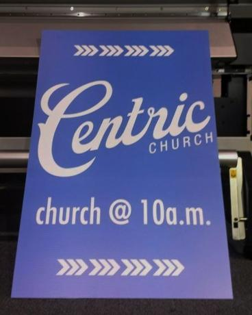 Centric Church A-frame Panel