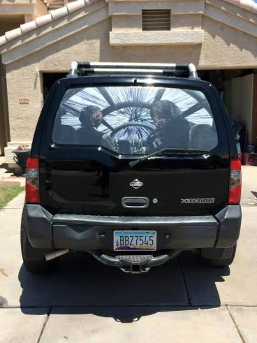 Han Solo and Chewie Back Window Decal