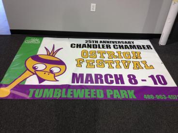 Annual Ostrich Festival Banner