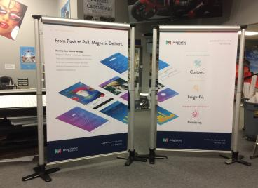 Magnetic Mobile Trade Show Display Retractable