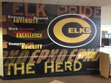 Centerville HS Wall Graphic Dayton Ohio