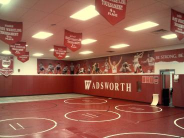 Wadsworth Wall Mural Wrestling Room Dayton Ohio