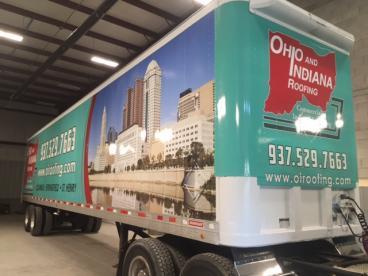 Ohio and Indiana Roofing Trailer Wrap Vandalia Ohio