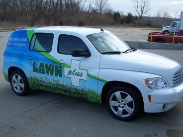 Lawn Plus HHR Vehicle Wrap Dayton Ohio