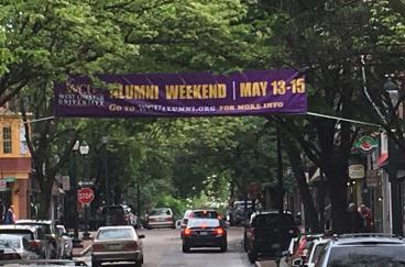24' WCU Street Banner - Gay Street