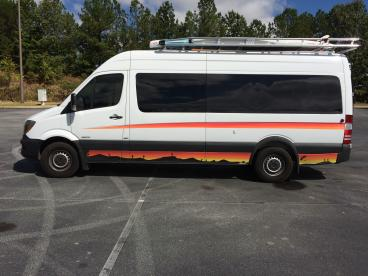 Custom Pin Stripe and Black Vinyl, SpeedPro Greenville