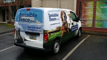 Full Truck Wrap for Invisible Fence in Bellevue/Kirkland