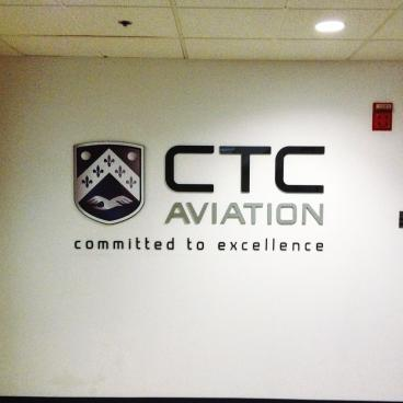 CTC Aviation pop out wall graphic