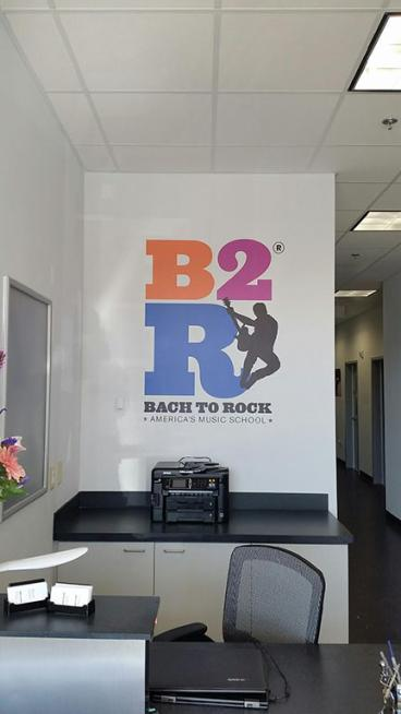 Wall Mural for Bach to Rock in Apex, NC