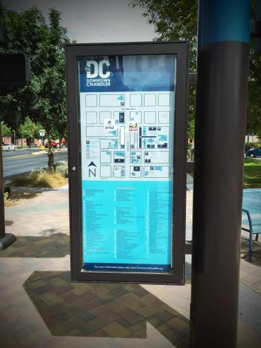 Downtown Chandler Street Map
