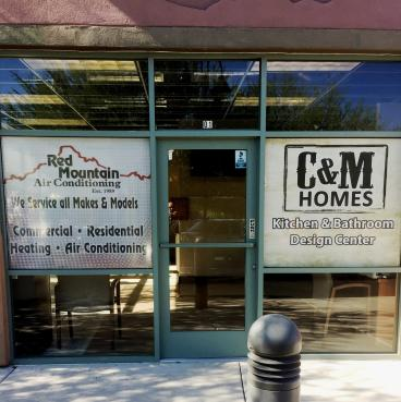 Red Mountain AC/ C&M Builders  Window Decals