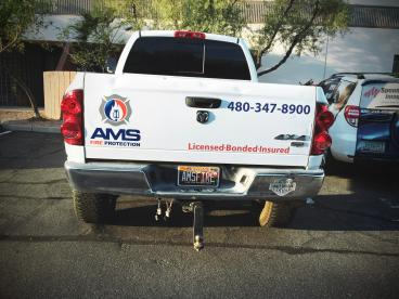 AMS Fire Protection Fleet Wrap
