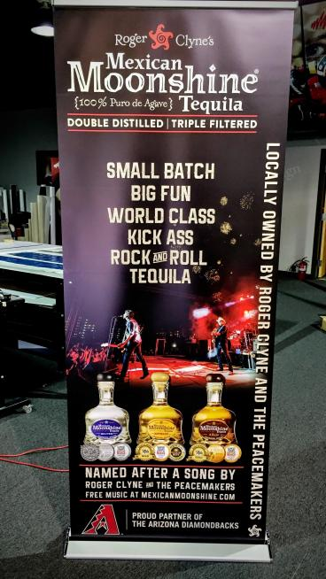 Roger Clyne's Mexican Moonshine Retractable Banner