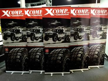 API Tire Retractable Trade Show Banners