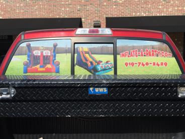 Window Graphics for Inflate-A-Party in Apex, NC