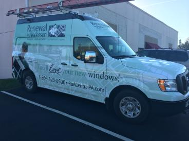 Full vehicle wrap for Renewal by Anderson Windows