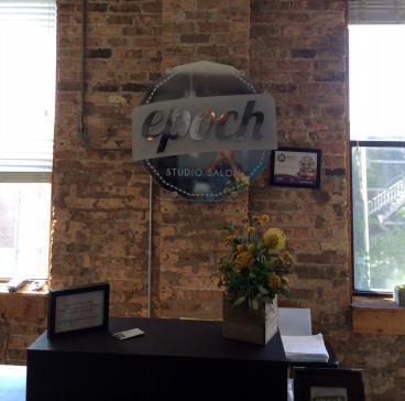 Office Branding - 3D Letters and Shape for Epoch Studio Salon Logo