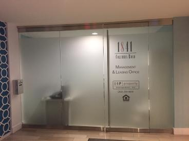 Sophisticated: Frosted Vinyl at the UIP Entrance