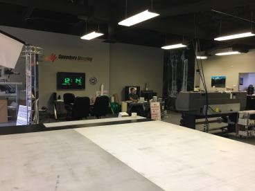 Large Format Graphic studio at Speedpro Imaging of Dallas on Elmbrook Drive