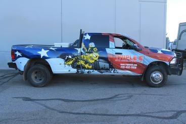 Full Truck Wrap for Triple E Construction Denver CO