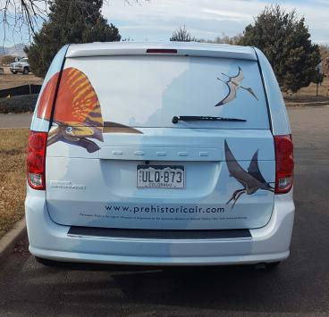 Fort Collins Museum of Discovery, Pterosaurs exhibit vehicle wrap