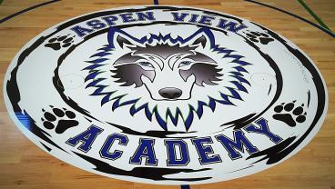 floor graphic aspen academy denver, CO