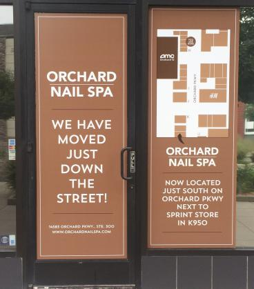 outdoor signage the orchard nail spa Denver, CO