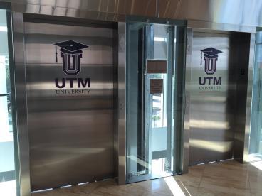 Utility Trailers Manufacturing, Elevator Graphic, Corporate Branding, Dallas, TX, 2016