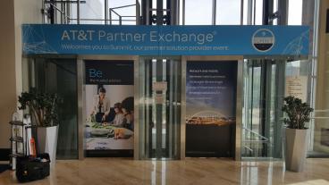 AT&T Partner Exchange Summit, Elevator Graphic, Event Graphic, Corporate Branding, Dallas, TX