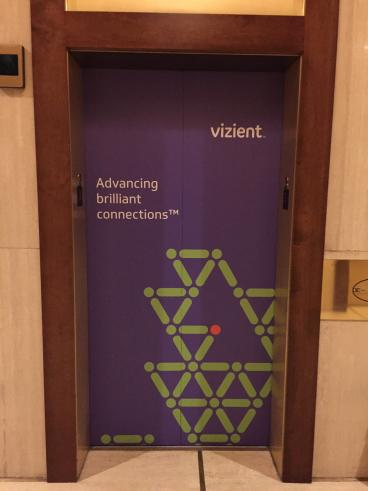 Vizient, Elevator Graphic, Event Graphic, Corporate Branding, Dallas, TX