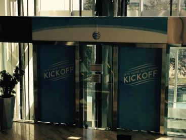 AT&T Home Solutions Kick Off Meeting, Elevator Graphic, Event Graphic, Corporate Branding, Dallas