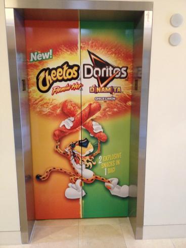 Frito Lay, Elevator Graphic, Event Graphic, Corporate Branding, Dallas, TX