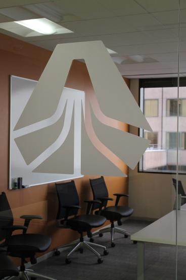 indoor graphics denver, CO frosted glass adhere