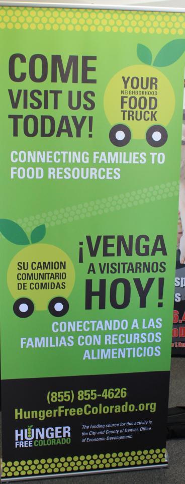 retractable banner hunger free colorado denver, CO