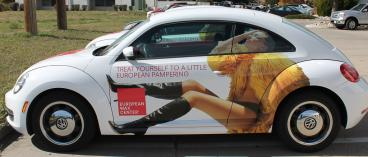 vehicle wrap european wax center denver, CO