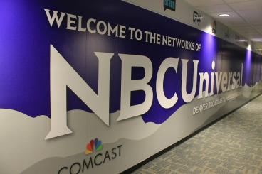 wall mural NBC universal denver, CO