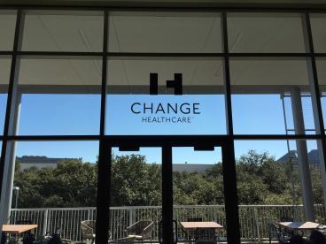 Event Window Graphics, Corporate Branding, Change Healthcare, Dallas, TX