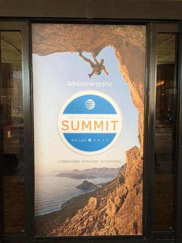 Event Window Graphics, Corporate Branding, AT&T, Dallas, TX