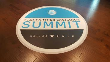 Floor Graphics, Corporate Branding, AT&T Partner Summit, Dallas, TX