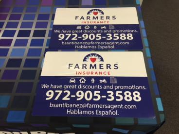 Thanks to Bertin Santibanez at Farmers Insurance in Plano, Texas!