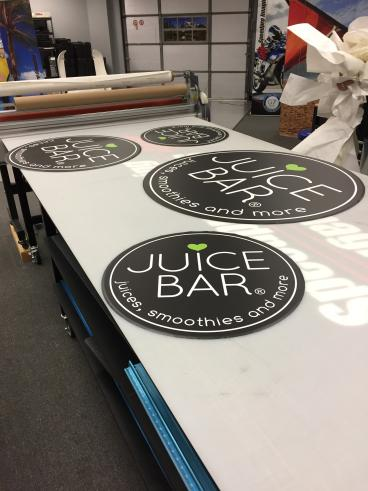 Signs for I Love Juice Bar in both Plano and Allen, Texas!