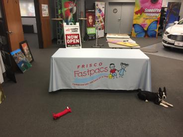 New Logo Table Throw for Frisco Fastpacs!