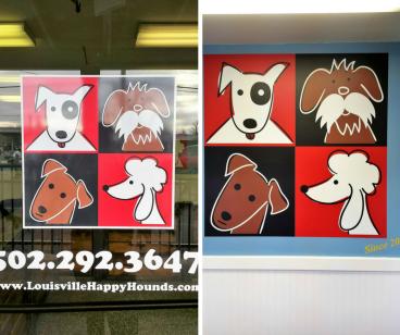 Happy Hounds Window & Wall Graphics