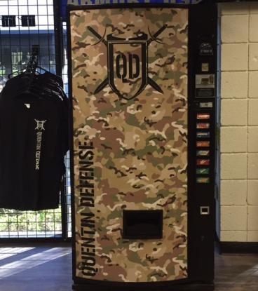 Custom wrapped vending machine.