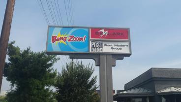 Illuminated  Bang Zoom Sign