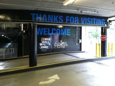 Parking Garage Signage at NHOF, Charlotte, NC
